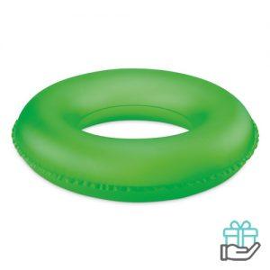 Opblaasbare zwemband kids neon groen bedrukken
