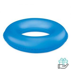 Opblaasbare zwemband kids transparant blauw bedrukken