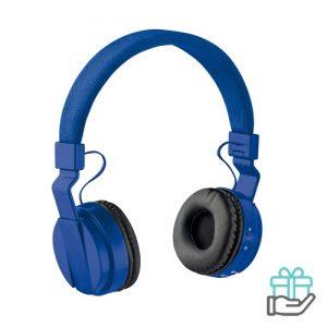 Opvouwbare koptelefoon koninklijk blauw bedrukken