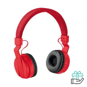 Opvouwbare koptelefoon rood bedrukken