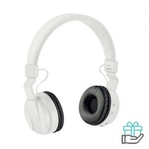 Opvouwbare koptelefoon wit bedrukken