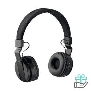 Opvouwbare koptelefoon zwart bedrukken