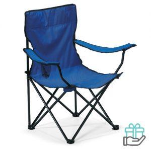 Opvouwbare stoel blauw bedrukken