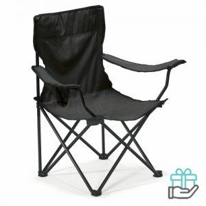 Opvouwbare stoel zwart bedrukken