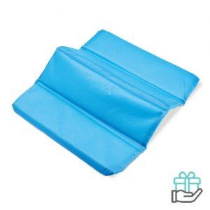 Opvouwbare zitmat baby blauw bedrukken