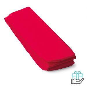 Opvouwbare zitmat rood bedrukken
