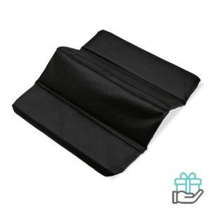 Opvouwbare zitmat zwart bedrukken
