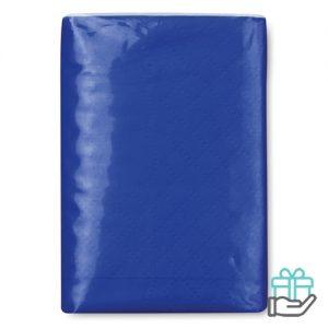 Pakje zakdoekjes koninklijk blauw bedrukken
