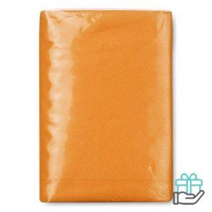 Pakje zakdoekjes oranje bedrukken