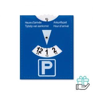 Parkeerkaart PVC blauw bedrukken