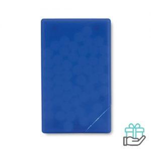 Pepermuntdispenser creditcard transparant blauw bedrukken