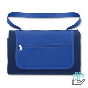 Picknickkleed blauw bedrukken