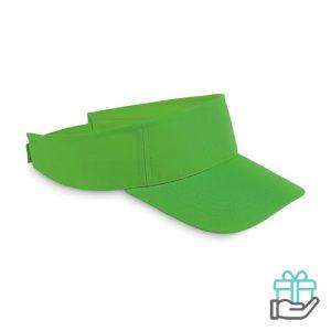 Polyester zonneklep groen bedrukken
