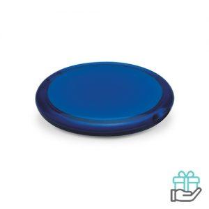 Ronde spiegel transparant transparant blauw bedrukken