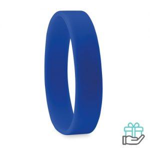 Siliconen armband blauw bedrukken