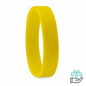 Siliconen armband geel bedrukken