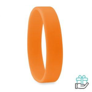 Siliconen armband oranje bedrukken
