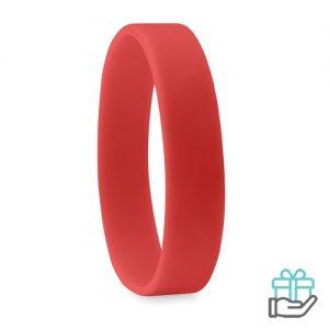 Siliconen armband rood bedrukken