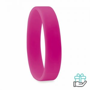 Siliconen armband roze bedrukken