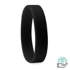 Siliconen armband zwart bedrukken