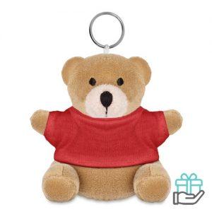 Sleutelhanger beer T-shirt rood bedrukken