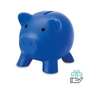 Spaarvarken budget blauw bedrukken