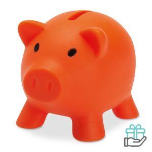 Spaarvarken budget oranje bedrukken