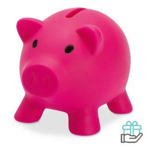 Spaarvarken budget roze bedrukken