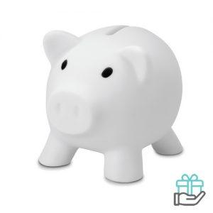 Spaarvarken budget wit bedrukken