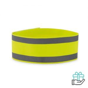 Sportarmband neon geel bedrukken