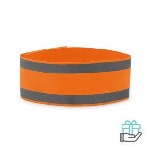 Sportarmband neon oranje bedrukken