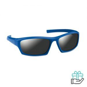 Sportieve zonnebril UV400 koninklijk blauw bedrukken