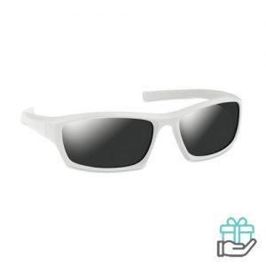 Sportieve zonnebril UV400 wit bedrukken