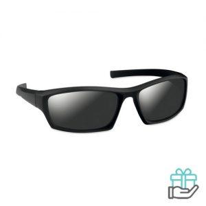 Sportieve zonnebril UV400 zwart bedrukken