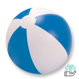 Strandbal gekleurd blauw bedrukken