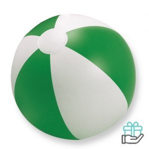 Strandbal gekleurd groen bedrukken