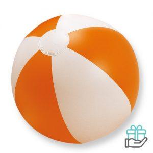 Strandbal gekleurd oranje bedrukken
