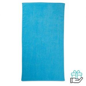 Strandhanddoek color blauw bedrukken