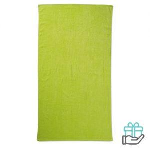 Strandhanddoek color limegroen bedrukken