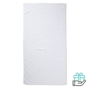 Strandhanddoek color wit bedrukken