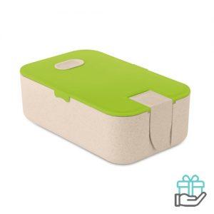 Tarwestro Lunchbox limegroen bedrukken