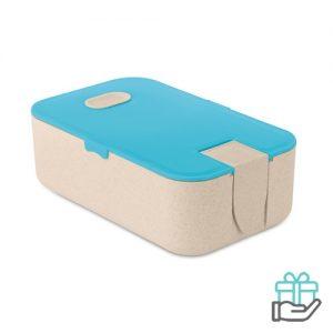 Tarwestro Lunchbox turquoise bedrukken