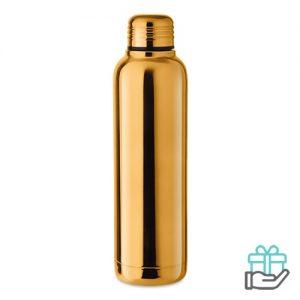 Thermosfles glanzende UV 500ml goud bedrukken
