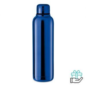 Thermosfles glanzende UV 500ml koninklijk blauw bedrukken