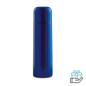 Thermosfles hip 500ml blauw bedrukken