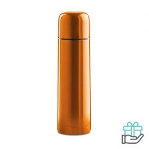 Thermosfles hip 500ml oranje bedrukken