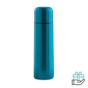 Thermosfles hip 500ml turquoise bedrukken