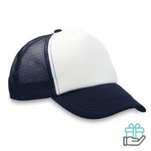 Truckers baseball cap blauw bedrukken