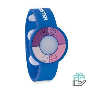 UV-sensor horloge koninklijk blauw bedrukken