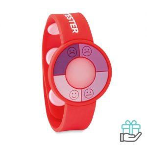 UV-sensor horloge rood bedrukken